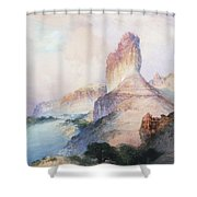 Butte Green River Wyoming Shower Curtain