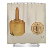 Butter Mold Shower Curtain