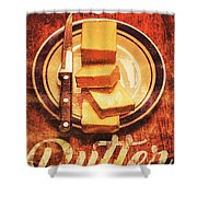 Butter Since Sliced Bread Display Shower Curtain