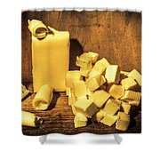 Buttering Up Shower Curtain