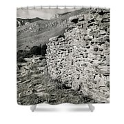 Butterfield Stage Lines Ruins Shower Curtain