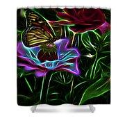 Butterflies And Flowers IIi Shower Curtain