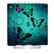 Butterflies At Dusk Shower Curtain