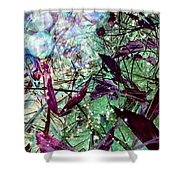 Butterflies At Night  Shower Curtain