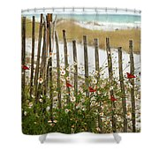 Butterflies By The Seashore Shower Curtain