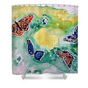 Butterflies Shower Curtain