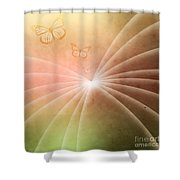 Butterflies In Spring Shower Curtain