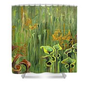 Butterflies In The Bog Shower Curtain