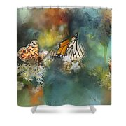 Butterflies On A Spring Day Shower Curtain