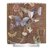 Butterflies On A Tree Shower Curtain