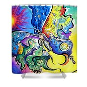 Butterfly 01. Science And Its Progress  Shower Curtain