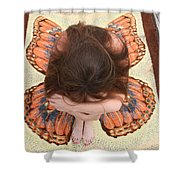 Butterfly 053 Shower Curtain