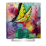 Butterfly 2 Shower Curtain by Dee Carpenter