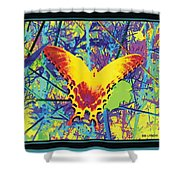 Butterfly All Aglow Shower Curtain
