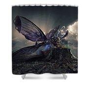 Butterfly And Caterpillar Shower Curtain