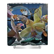 Butterfly And Orhid Shower Curtain
