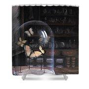 Butterfly Belljar  Shower Curtain