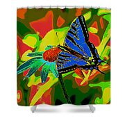 Butterfly Blues Shower Curtain