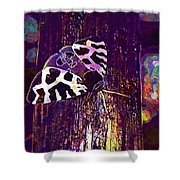 Butterfly Brown Bear Drawing Wing  Shower Curtain
