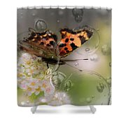 Butterfly Bubbles Shower Curtain