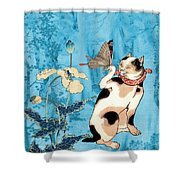 Butterfly Charmer Shower Curtain