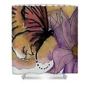 Butterfly Collecting Shower Curtain