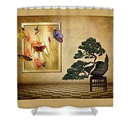 Butterfly Collection Shower Curtain