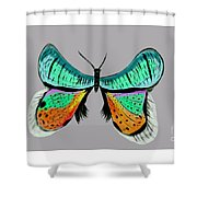 Butterfly Commission Shower Curtain