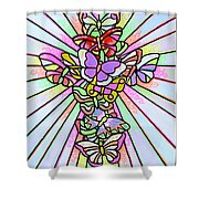 Butterfly Cross Shower Curtain