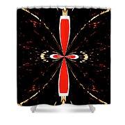 Butterfly Design Shower Curtain