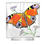 Butterfly Dressed For A Masquerade Ball Shower Curtain