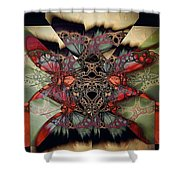 Butterfly Effect 2 / Vintage Tones  Shower Curtain