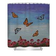 Butterfly Field Shower Curtain