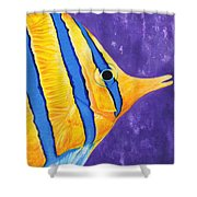 Butterfly Fish Shower Curtain