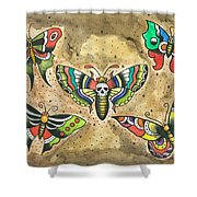 Butterfly Flash Shower Curtain
