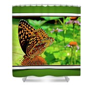 Butterfly For Earth Day Shower Curtain