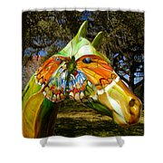Butterfly Horse Ocala Florida Shower Curtain