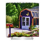 Butterfly House 2 Shower Curtain