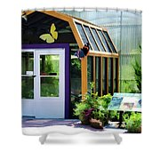 Butterfly House 3 Shower Curtain