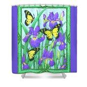 Butterfly Idyll-irises Shower Curtain
