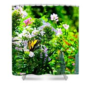 Butterfly In A Garden Shower Curtain