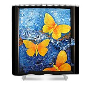 Butterfly In Blue 1 Shower Curtain
