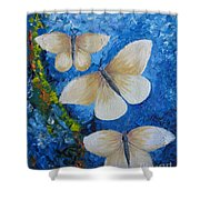 Butterfly In Blue 4 Shower Curtain