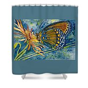Butterfly In Ca Shower Curtain