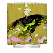 Butterfly In Color Shower Curtain