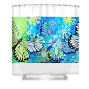 Butterfly In Flight #3  Shower Curtain