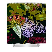 Butterfly In Garden Shower Curtain
