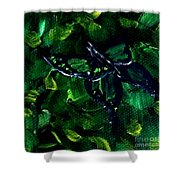 Butterfly In The Bush Shower Curtain