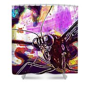Butterfly Insect Eyes Probe  Shower Curtain