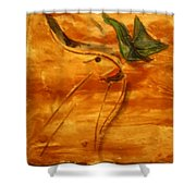 Butterfly Kiss - Tile Shower Curtain